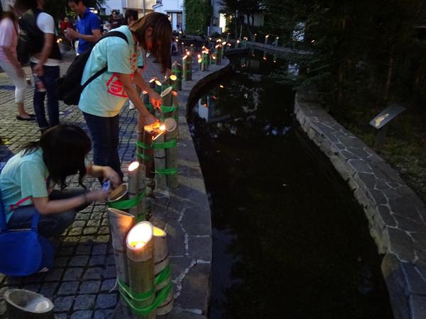 7池の周りでも点灯