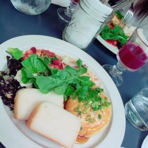 (5)グルテンフリーレストラン。パンは米粉とコーンフラワー